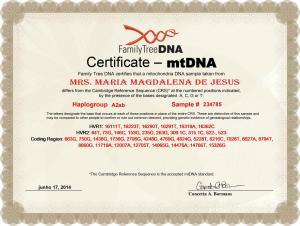 10_My_FTDNA_MT_DNA_Certificate_A2ab_Maria_Magdalena