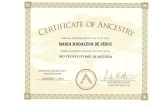 1_AfricanAncestry_Maria_Madalena _mtDNA_L2a1c1_Igbo