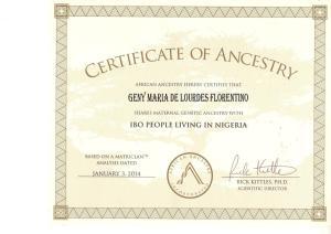 1_Certificado_African_Ancestry_Lourdes_Igbo