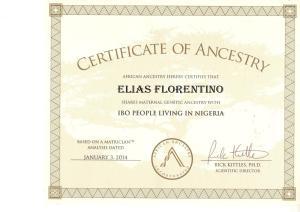 1_Certificate_African_Ancestry_Elias_Igbo