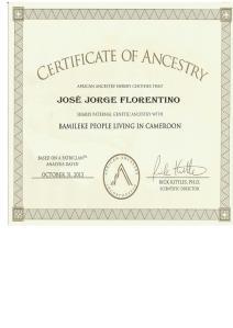 2_African_Ancestry_José_Jorge _Y-DNA_E1b1a7a_Bamileke