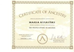 2_Certificate_African-Ancestry-Maria_Kuiavski_Igbo