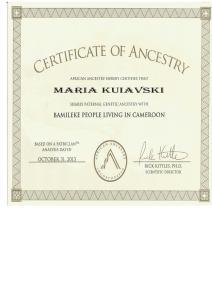4_African_Ancestry_Maria_Kuiavski _Y-DNA_E1b1a7a_Bamileke