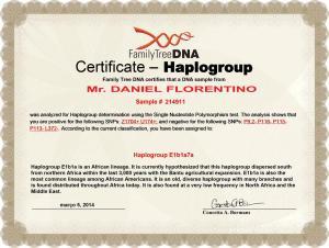6_Certificate_FTDNA_Y_DNA_SNP_Certificate_Daniel